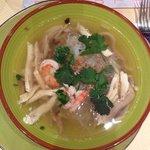 soupe chinoise de vermicelle au poulet (je crois)