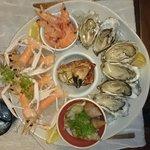 je suis  venu mangé des fruits de mer j'ai trouvé ce restaurant du marché qui proposé une grande