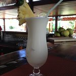 Yummy Pina Colada at the bar.