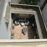 patio vue de la terrasse