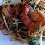 Pad Thai crevette. Shrimp pad Thai