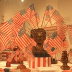 More flags and patriotic art.