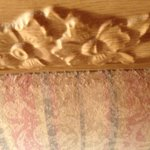 This is the thick dust on the headboard