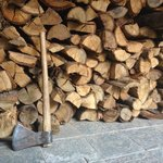 Stack of firewood for the fireplace
