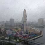 Rainy day...looking out onto the amusement park