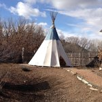 The teepee next to the spa