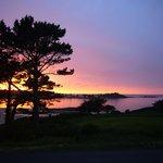 magnifique coucher de soleil du studio