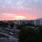 Aften udsigt fra balkonen