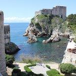 Paysages des rempats de Dubrovnik