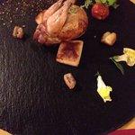 Antipasti: quail dish