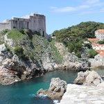 Paysage des remparts de Dubrovnik