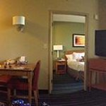 Pano view of king bed room.