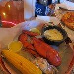 Geddy's lobster dinner