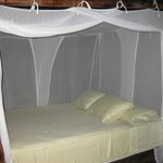 All beds have mosquito nets….bring your bug spray!