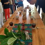 Roasting & 'cupping' of coffee at the Belcampo Farm Center was a treat.