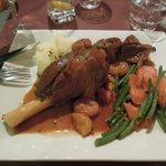 menu avec agneau aux abricots