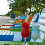 Frozen drinks on the beach!