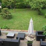 Patio & garden from room window