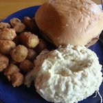 Pulled port, potato salad & fried okra