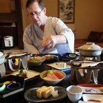 We enjoyed the very traditional Japanese cuisine, cooked and served in our room