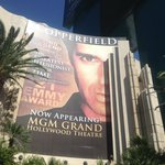 Sign for David Copperfield Show MGM Grand