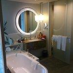 Bathroom with sliding doors