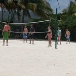 Beach Volleyball in the hot afternoon