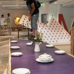 Golf on a dinning table