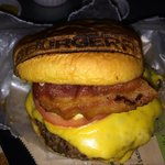 Cheeseburger with hickory bacon added
