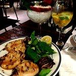 Calamar, lobster and Sangria