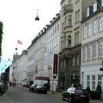 View of hotel along Sankt Anna Plads one block from Nyhavn harbor