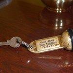 hotel antiguo, llave antigua.No existe la tecnología...