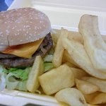 £2.00 Meal Deal Double Cheese Burger and chips