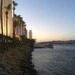 river walk outside Edgewater Hotel