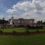 Day before Queen's birthday celebration-Buckingham Palace