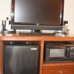 TV/Mini Fridge and Microwave