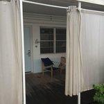 My garden level private patio