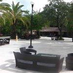 Outside seating/lobby bar
