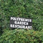 Polyphemus Garten Hinweis