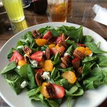 Spinach Salad with Honey Balsamic Dressing