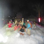 Foam party on the beach