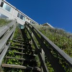 these are the stairs you climb to get to the beach