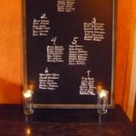 Neat idea for rehearsal dinner seating chart - painted in house