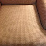 Stain on the chair.