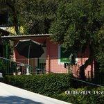 il bungalow visto dalla reception