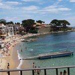 Calella beach with lifeguard