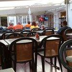 Camp bar and restaurant. Rubbish over priced food. Nice mojitos. No england world cup football.