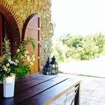 the main villa porch view