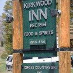 Kirkwood Inn Sign along the highway