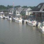 Dock along side the boardwalk